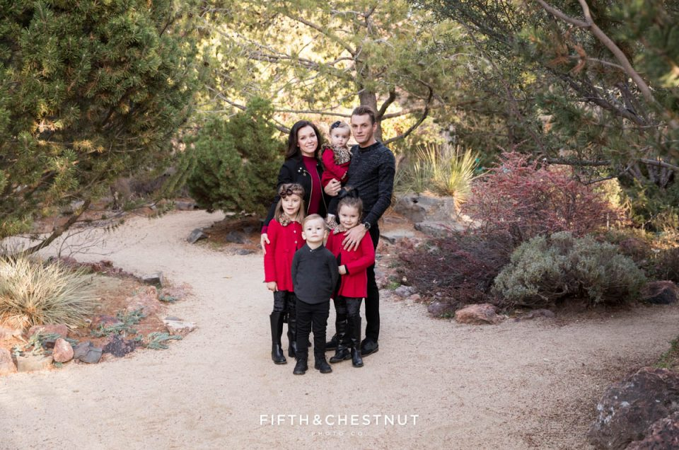 Elegant Red and Black Reno Fall Family Portraits | Reno Family Photographer