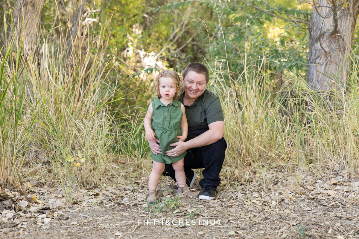 A beautiful example of earthtone family portraits at the Oxbow Nature Study by Reno Family Photographer