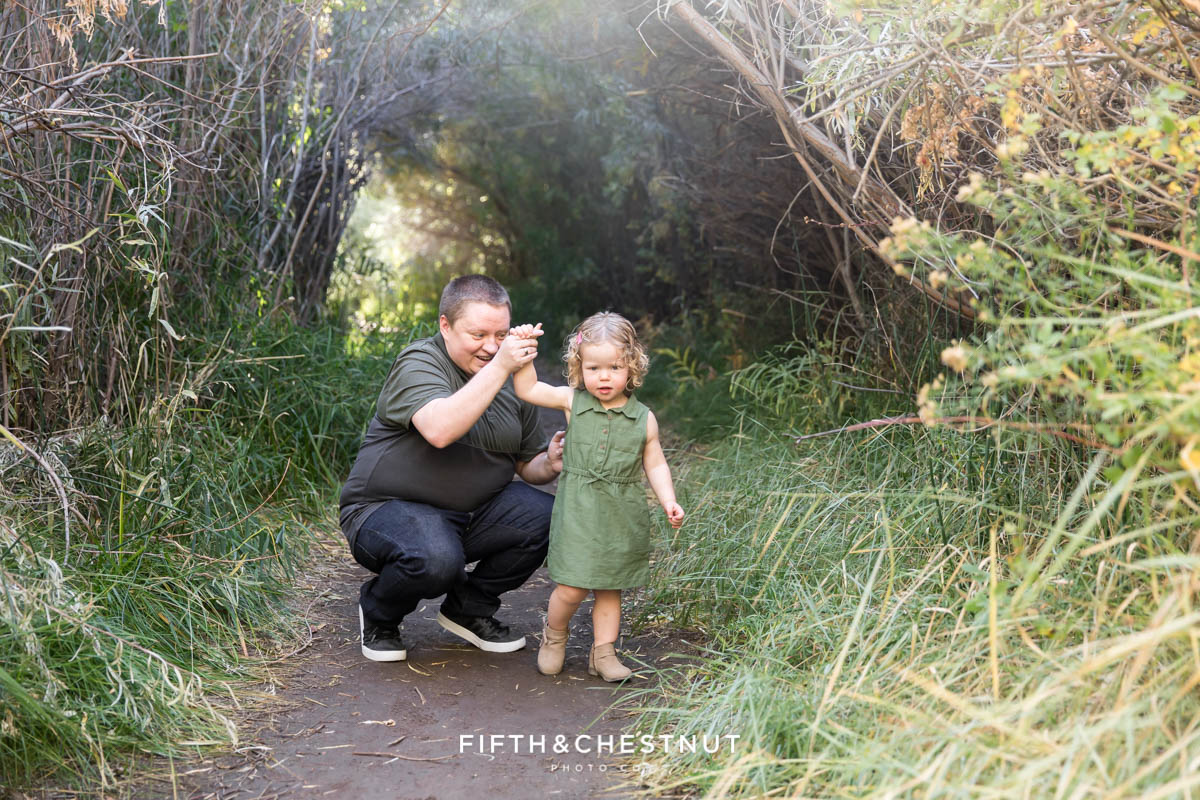 Mom and daughter dancing at Oxbow Nature Study by Reno Family Photographer