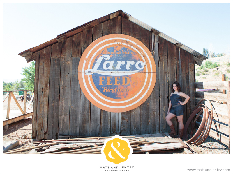 Senior Photos with Reno Senior Photographer Matt and Jentry at Bartley Ranch, NV in front of Larro shed