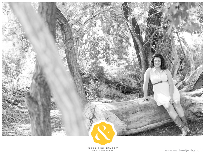 Senior Photos with Reno Senior Photographer Matt and Jentry at Bartley Ranch, NV by trees