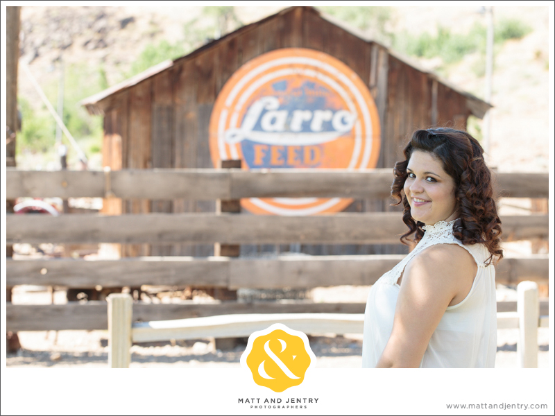 Senior Photos with Reno Senior Photographer Matt and Jentry at Bartley Ranch, NV in front of Larro shed and fence
