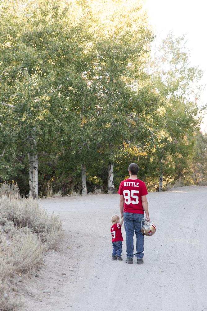 Vibrant Fall Family Photos at Thomas Creek Trailhead by Reno Family Photographer