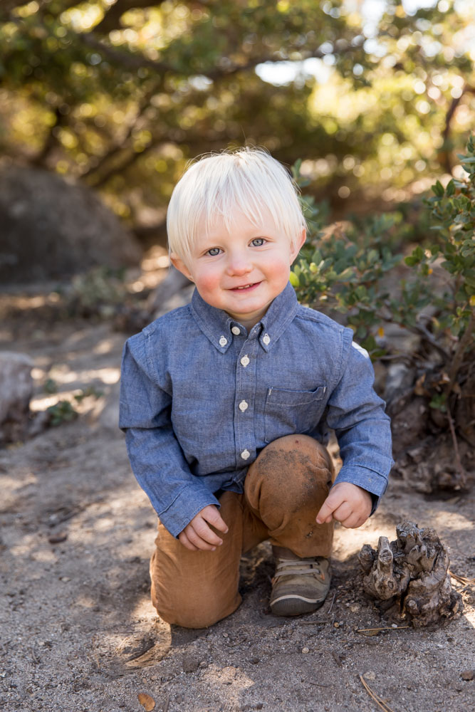 Rustic Western Retro Themed Fall Lake Tahoe family portrait at Sand Harbor by Lake Tahoe Family Photographer