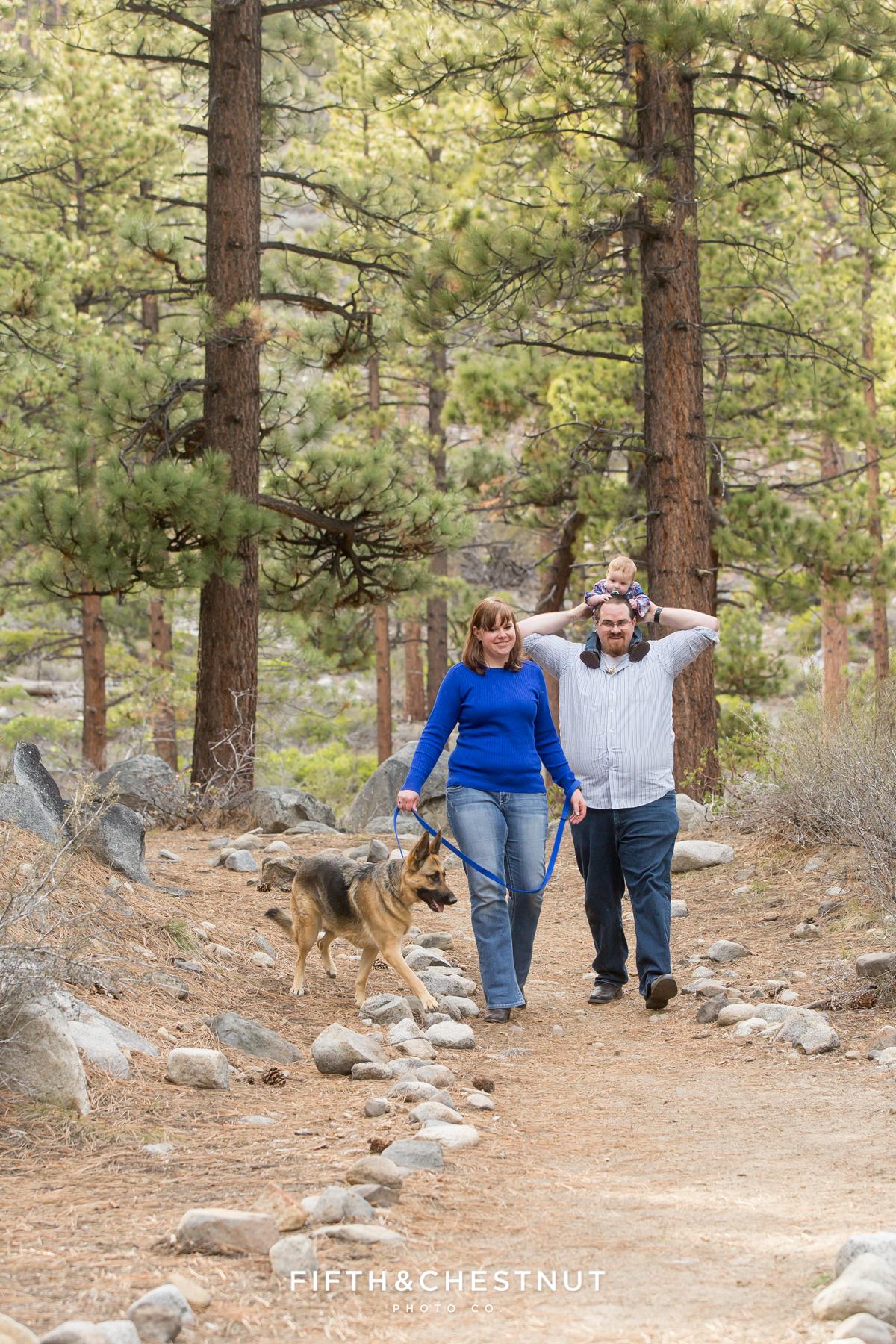 Reno Family Portraits in Spring at Galena Creek Park
