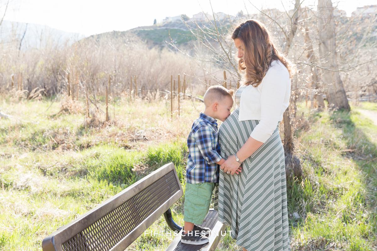 Reno Maternity Photos at the Oxbow by Reno Maternity Photographer