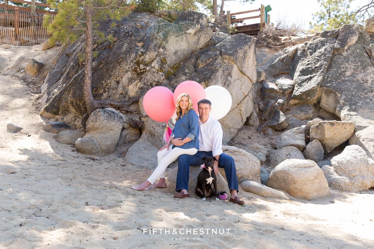 Sand Harbor Maternity Photo by Reno Maternity Photographer