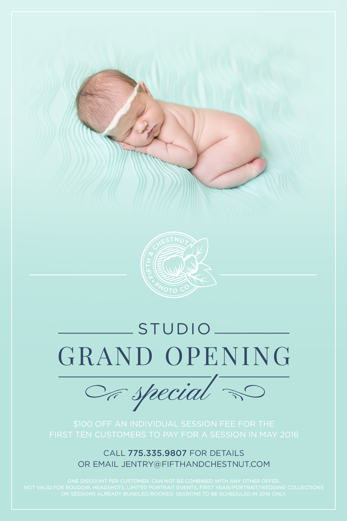 Reno Photography Studio Grand Opening Special | Fifth and Chestnut Photo Co