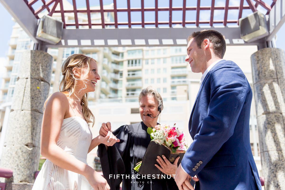 The vows of a Downtown Reno elopement by Reno Wedding Photographer