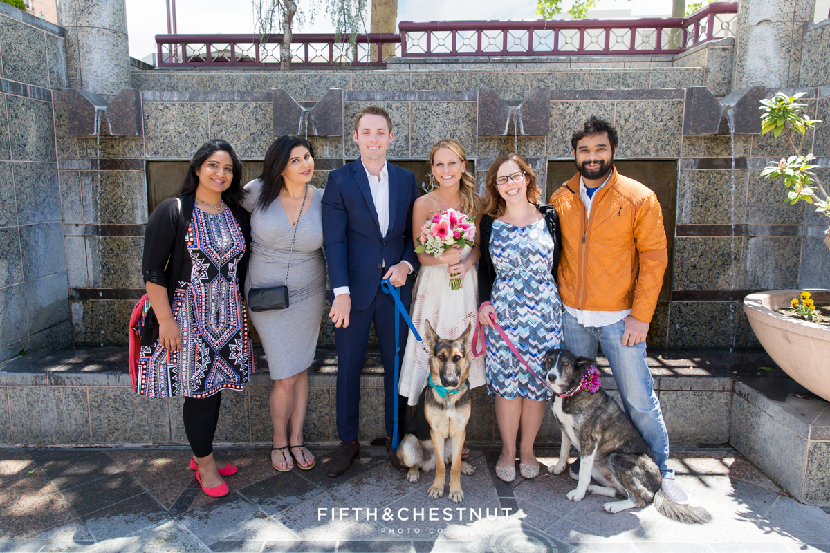 Formal portrait at a Downtown Reno elopement by Reno Wedding Photographer