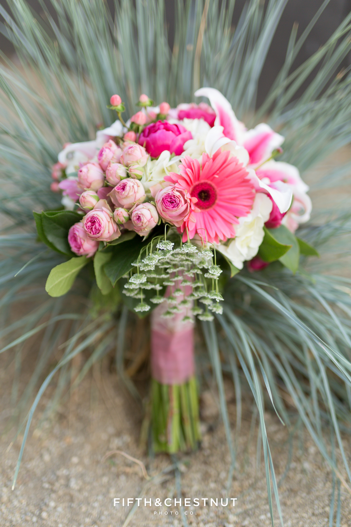 Bridal bouquet by St. Ive's Florist for a Downtown Reno elopement