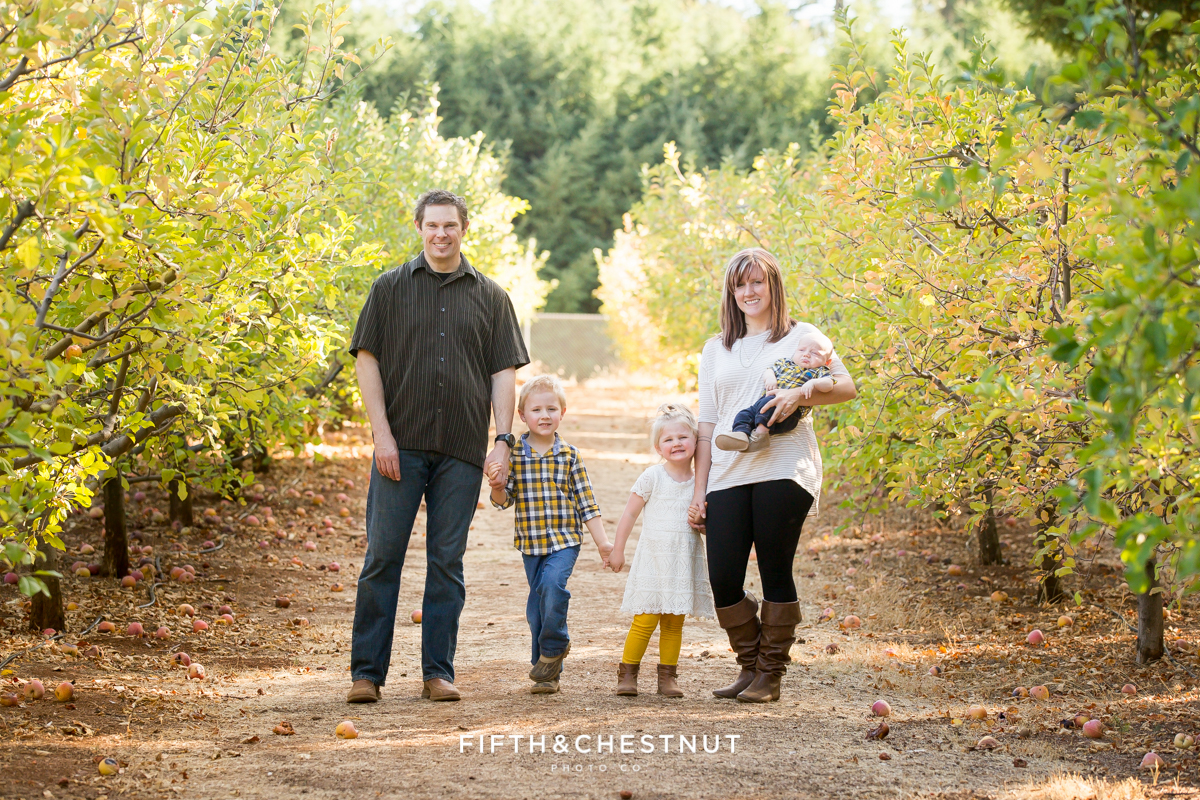 Apple Hill Portraits of Family of Five by Reno Family Photographer