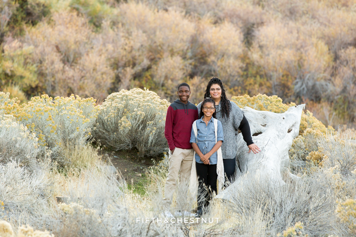Reno Fall Family Portraits at Mayberry Park by Reno Family Photographer
