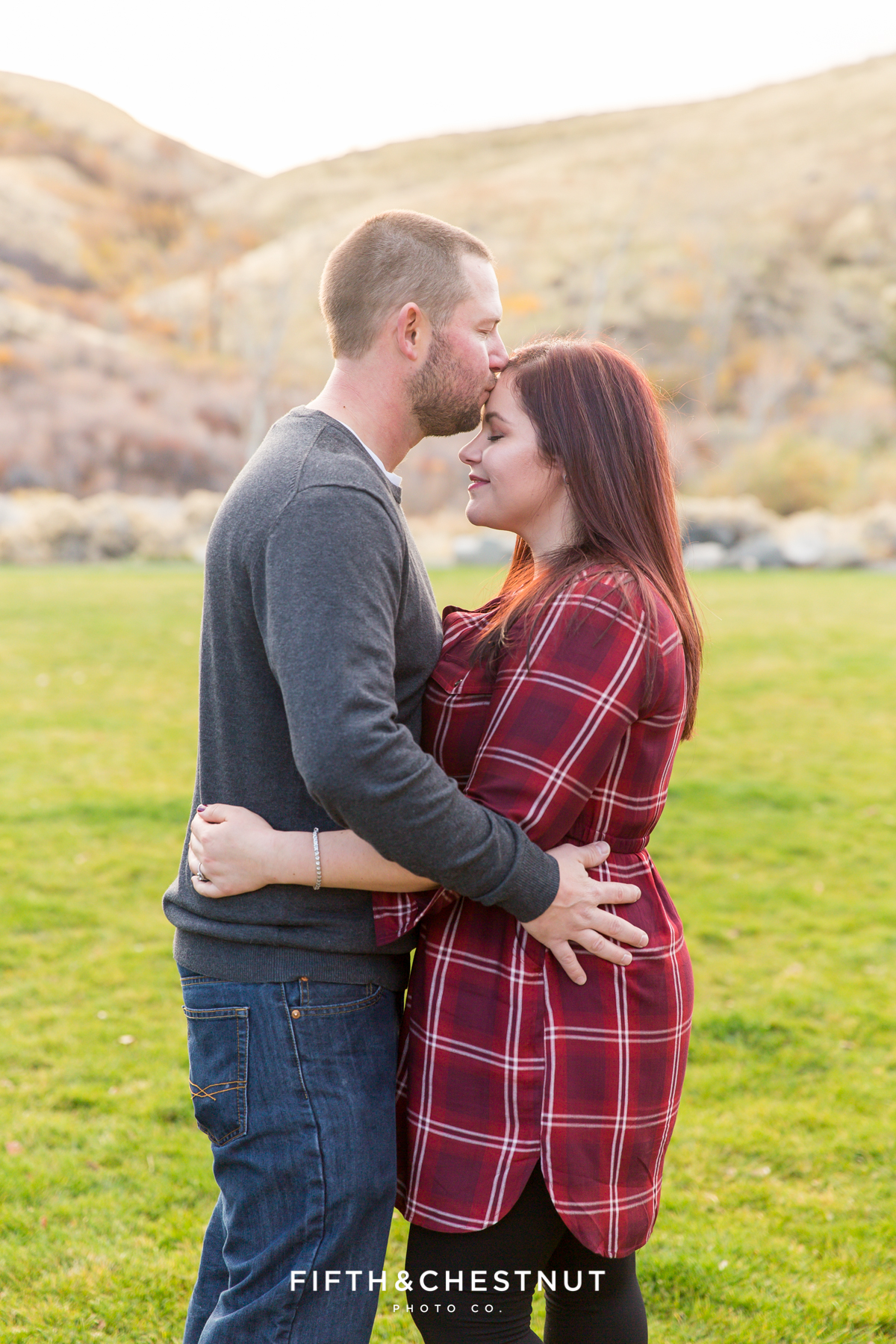 Holiday Family Portraits by Reno Family Photographer at Mayberry Park with the Wilcox Family