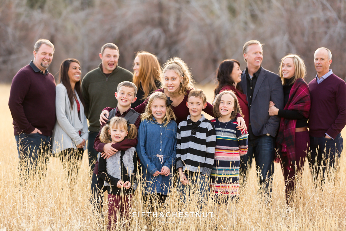 Extended Fall Reno Family Portraits Before Thanksgiving with Reno Family Photographer