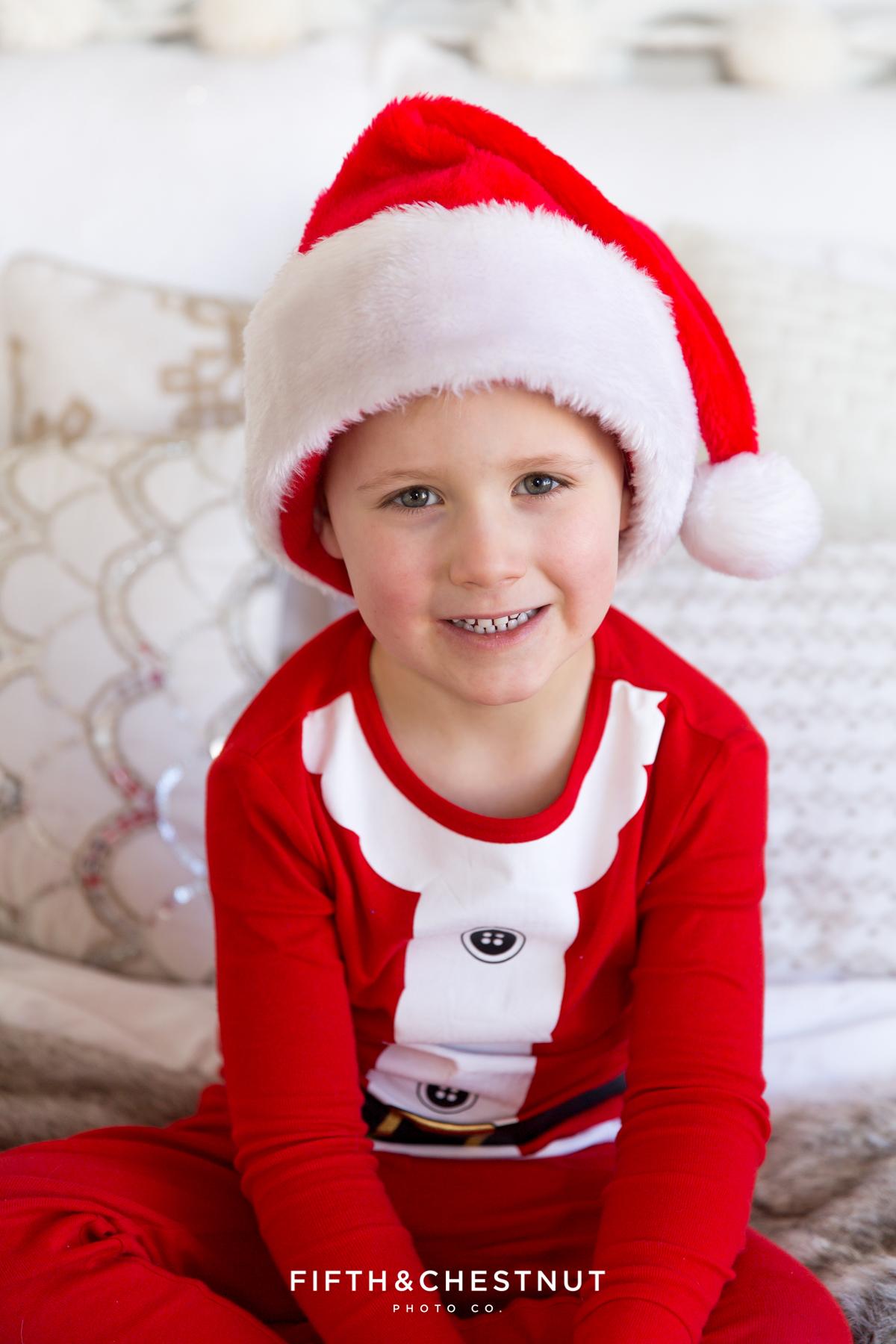 Reno Holiday Pajama Portraits of the Hume Kids by Reno Child Photographer