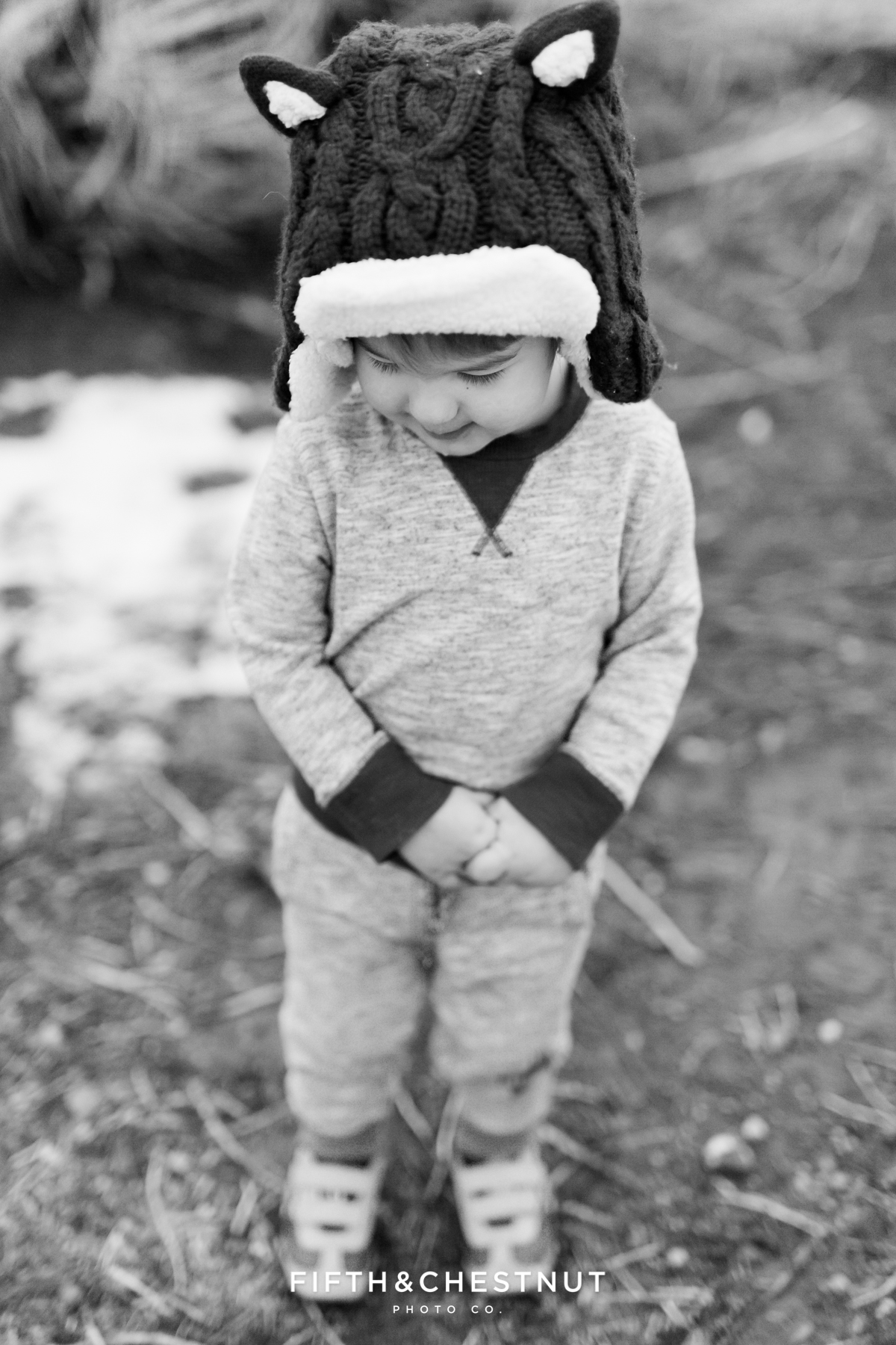 Winter Portraits of Little Boy at Hidden Valley Regional Park by Reno Child Photographer