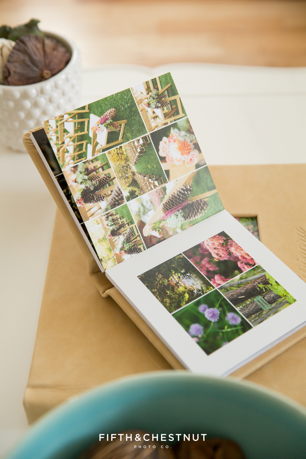 example of a mini duplicate album by lake tahoe wedding photographer
