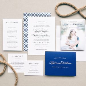 Nautical themed wedding invitations