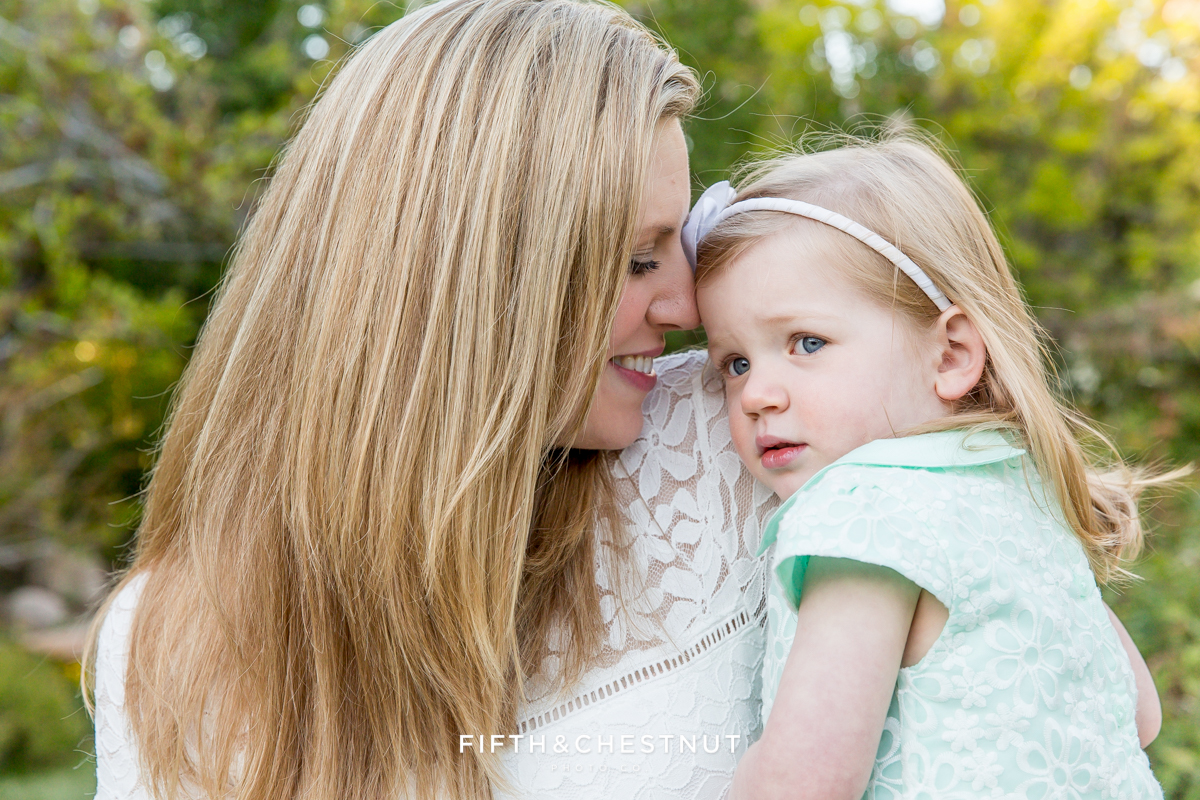 Reno pregnant mom and her toddler portrait by Reno Maternity Photographer