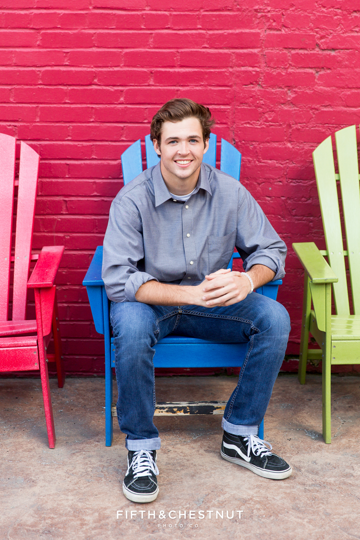 Reno High School Senior at West Street Market for his Reno Senior Portraits by Reno Senior Photographer