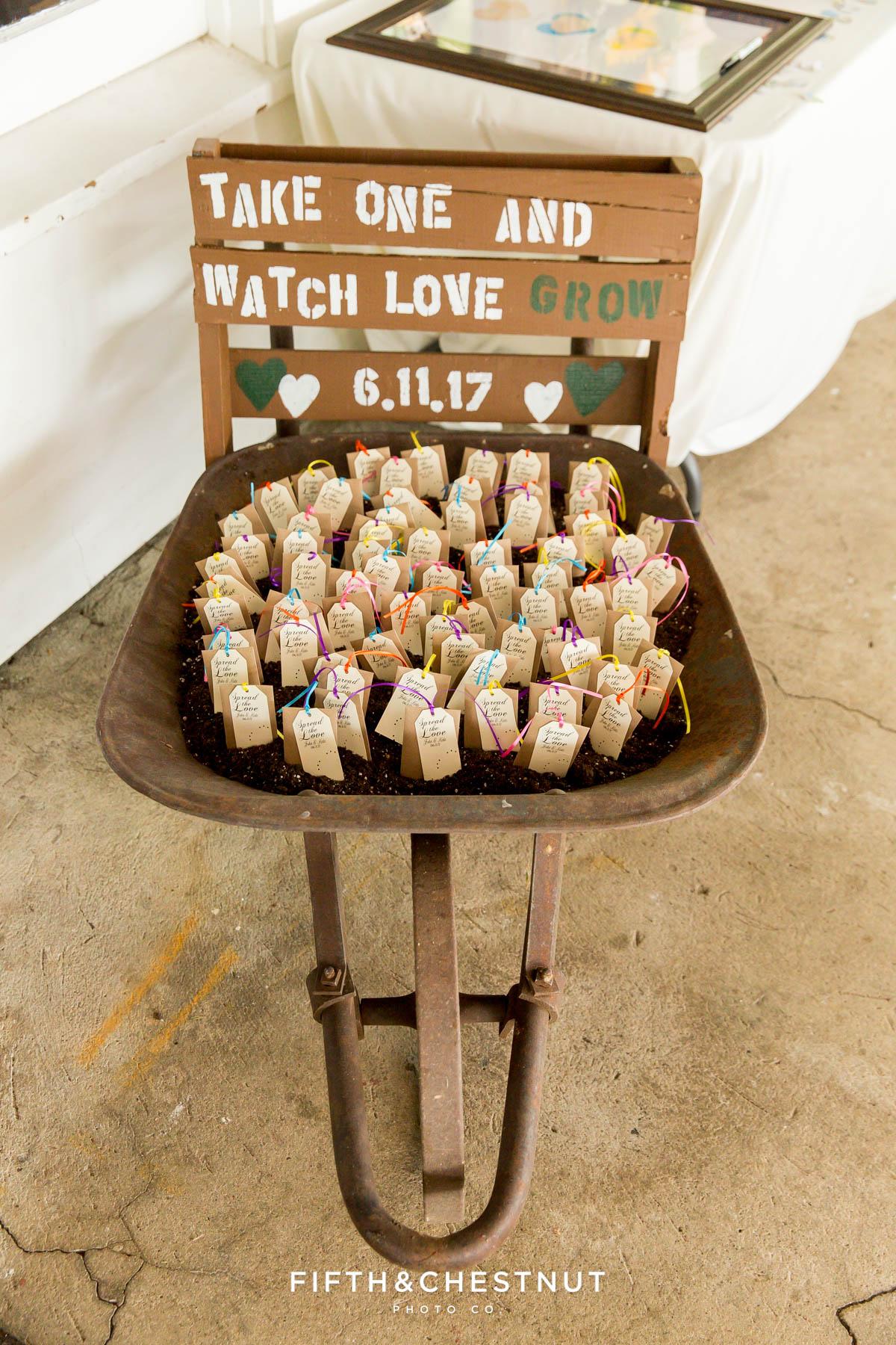 boho chic wedding favors for a Twenty Mile House wedding