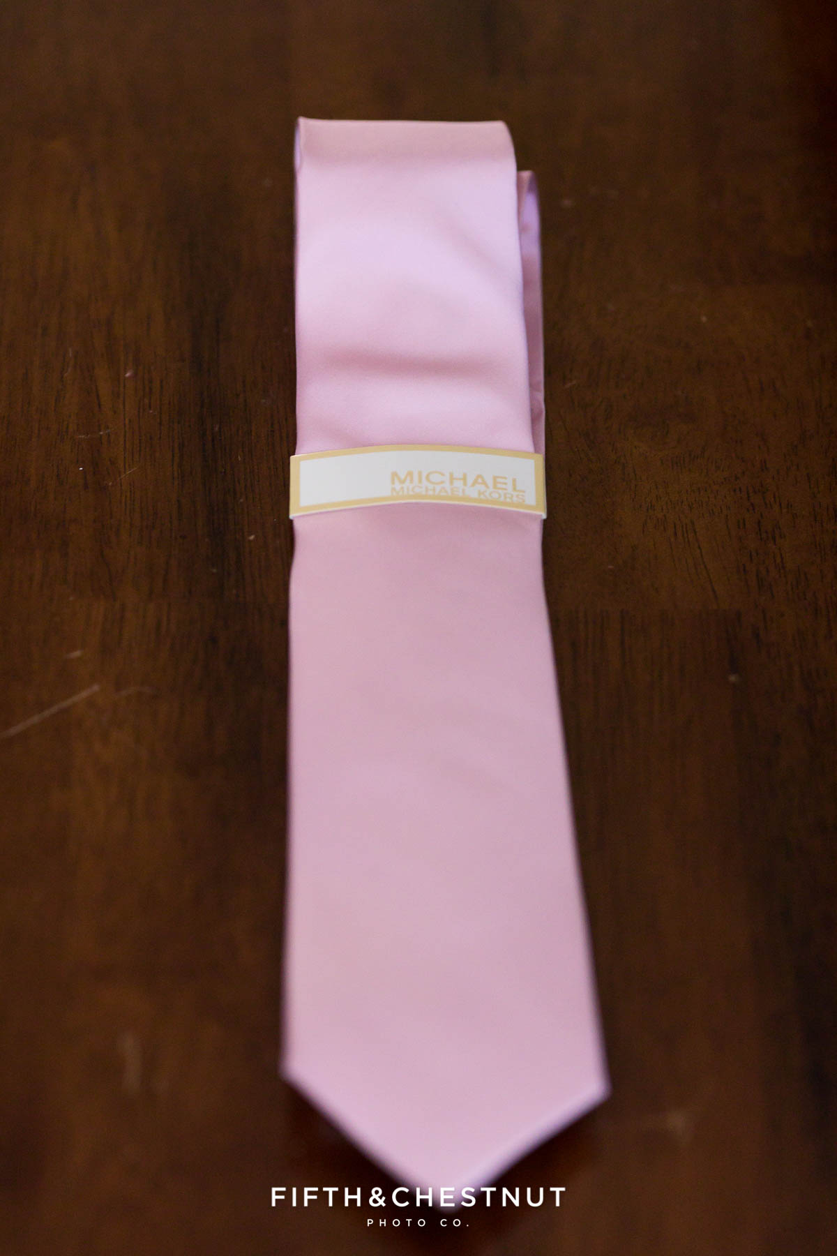 Pink Michael Kors tie for the groomsmen for a North Lake Tahoe Wedding by Lake Tahoe Wedding Photographer