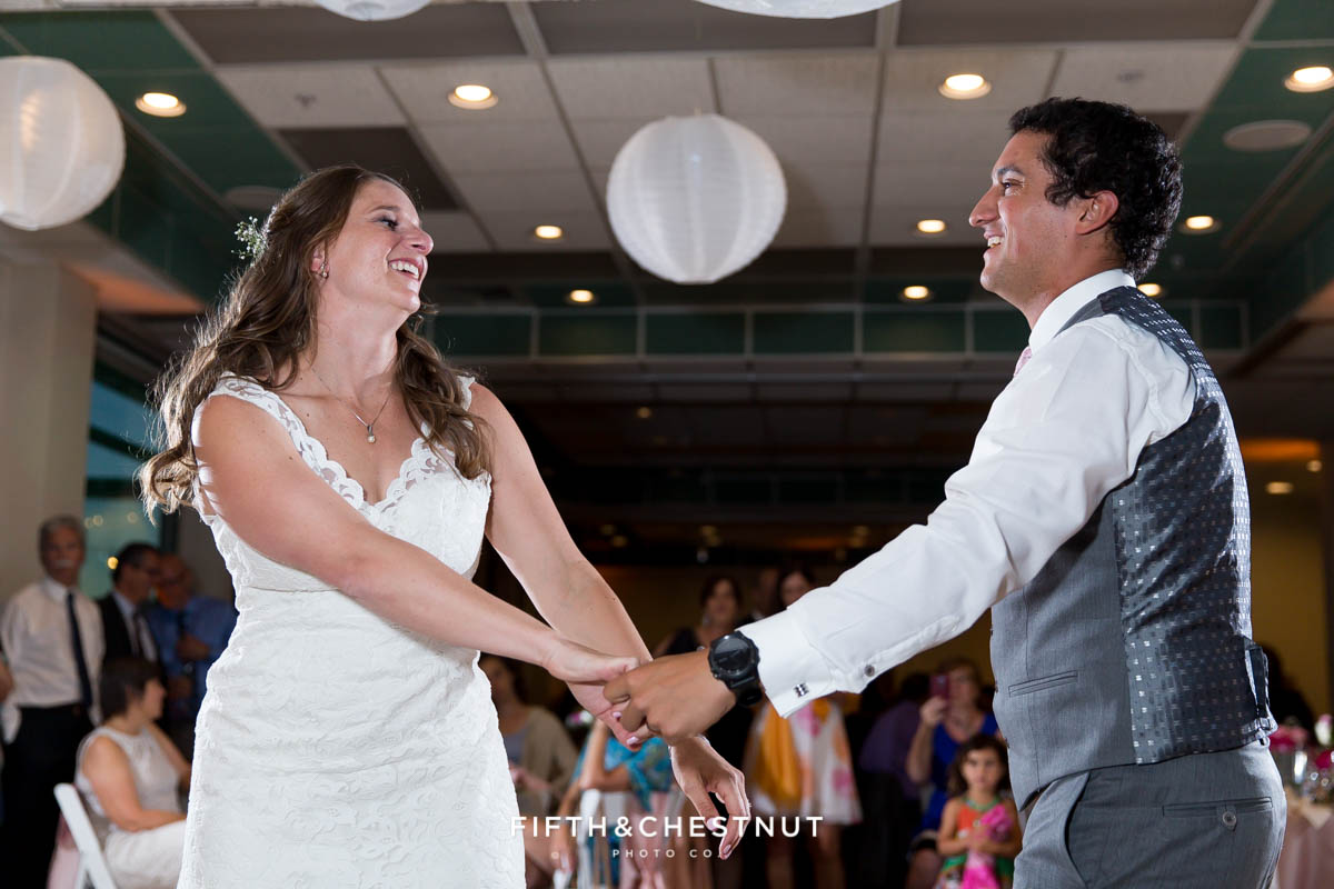 Bride and groom's first dance at their North Tahoe Event Center Wedding