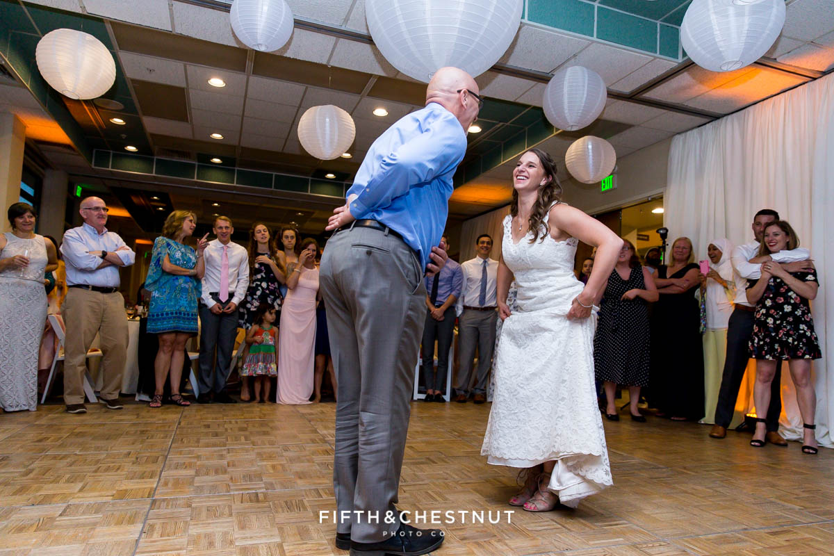 Father daughter dance at a North Tahoe Event Center Wedding