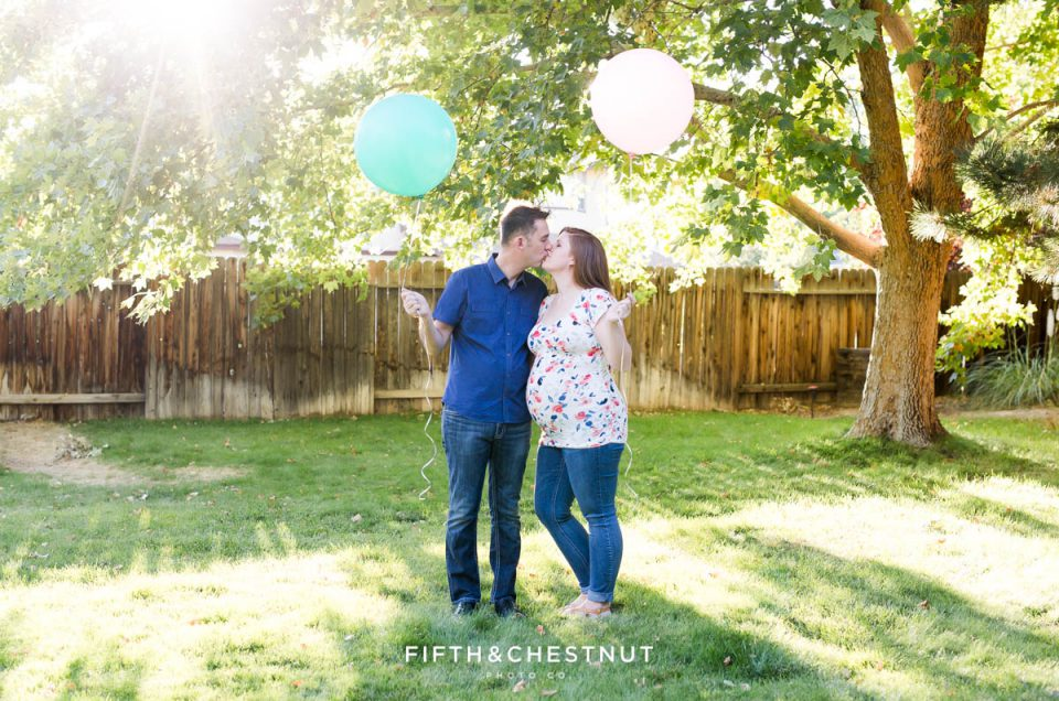 Twin Gender Reveal | Reno Family Photographer