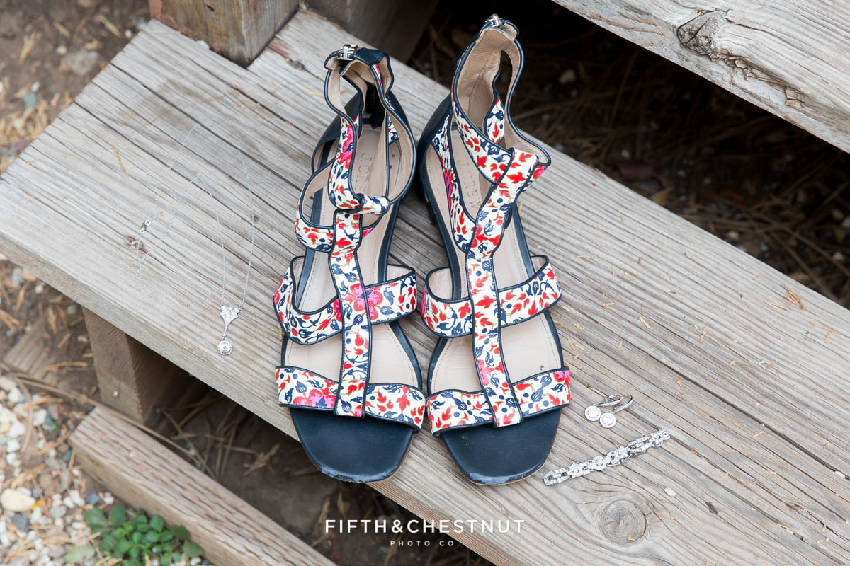 bohemian inspired wedding shoes for a Greenhorn Creek Guest Ranch Wedding