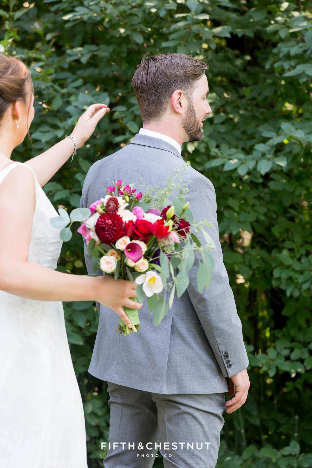 first look for a Greenhorn Creek Guest Ranch Wedding