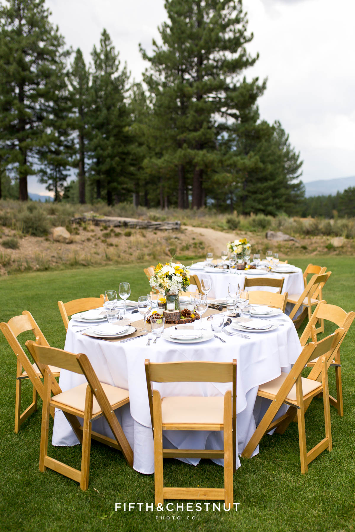 Reception tables for a PJ's at Gray's Crossing wedding