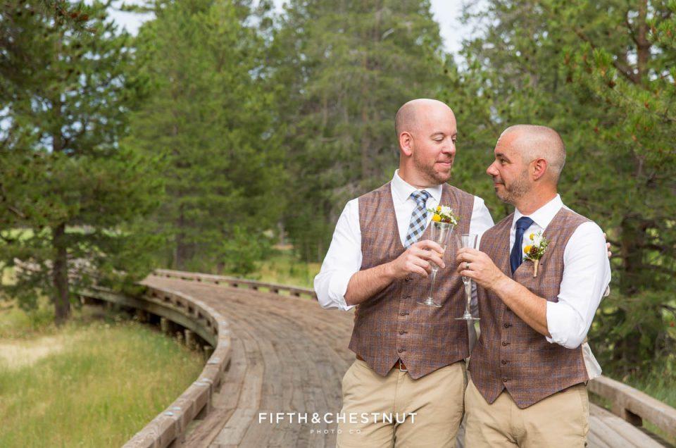 Tom & Tony's Joyful PJ's at Gray's Crossing Wedding | Truckee Wedding Photographer