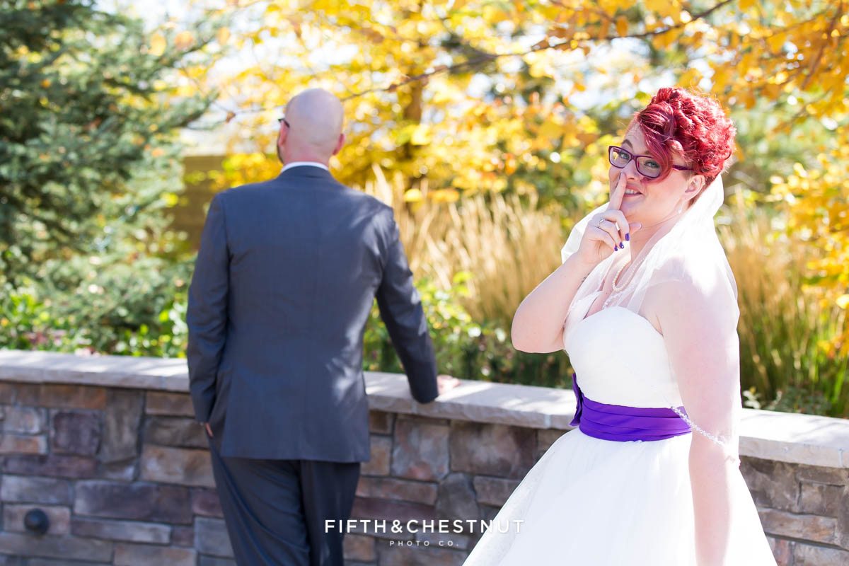 first look at a aBright fall wedding at the Grove by Reno Wedding Photographer