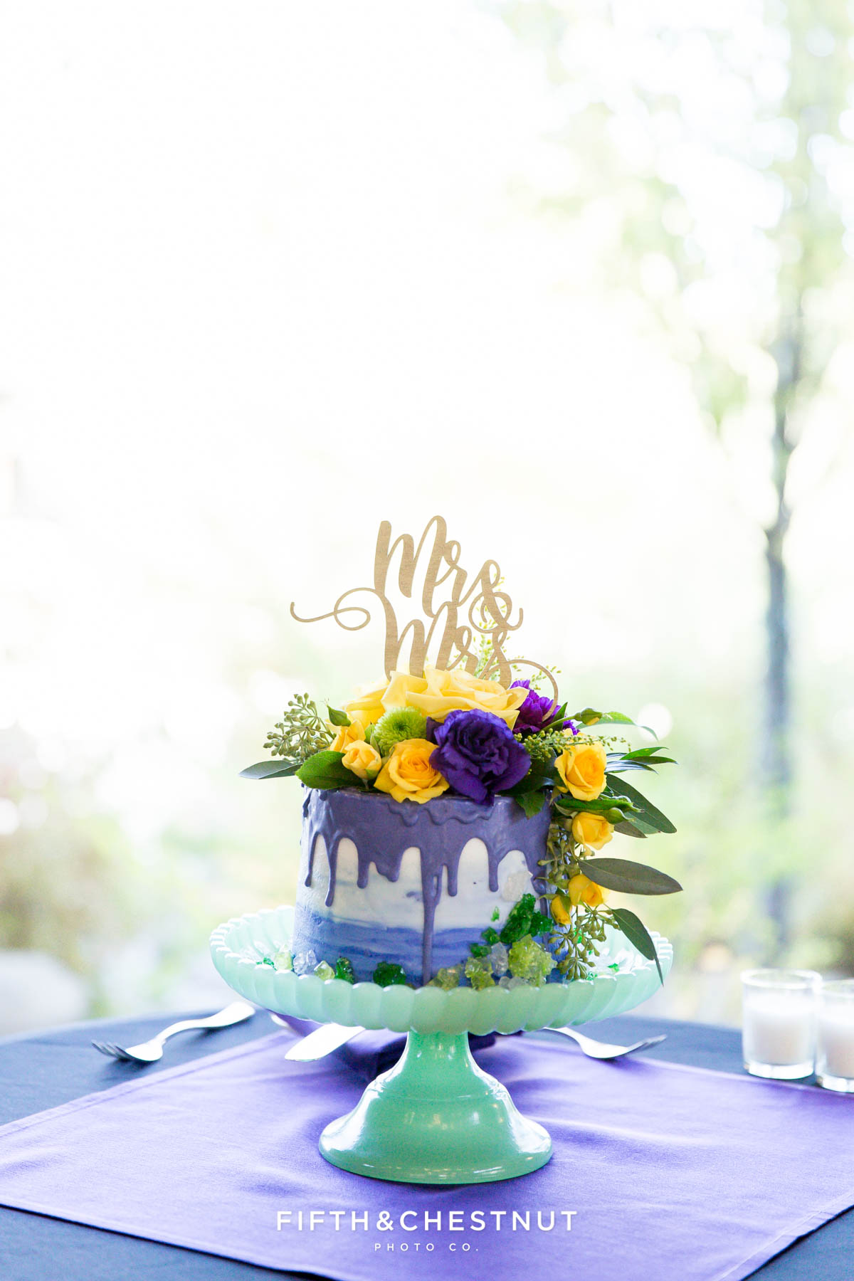 wedding cake for a Bright fall wedding at the Grove by Reno Wedding Photographer
