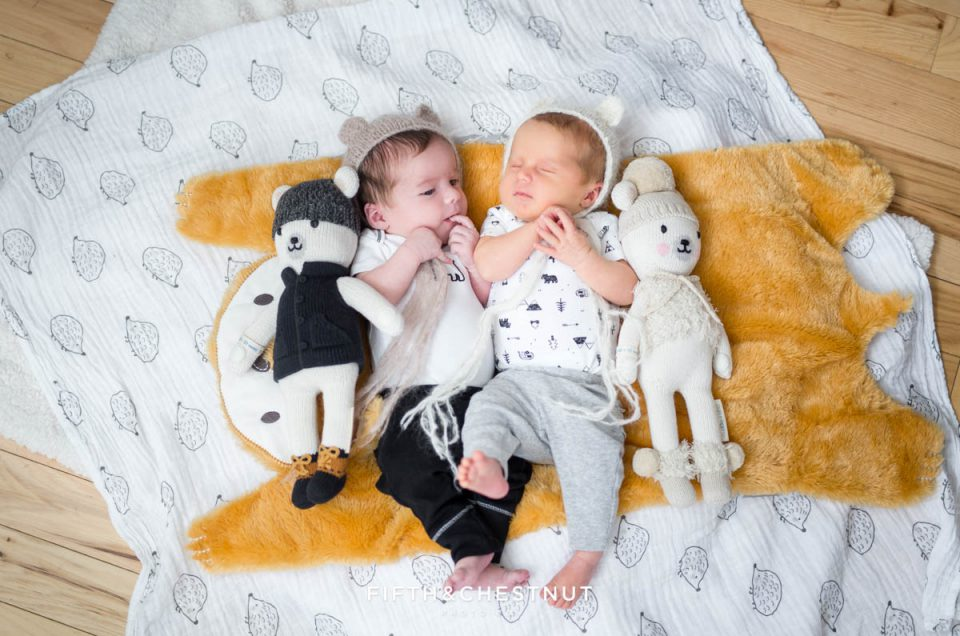 Twin Baby Portraits Reno Baby Photography