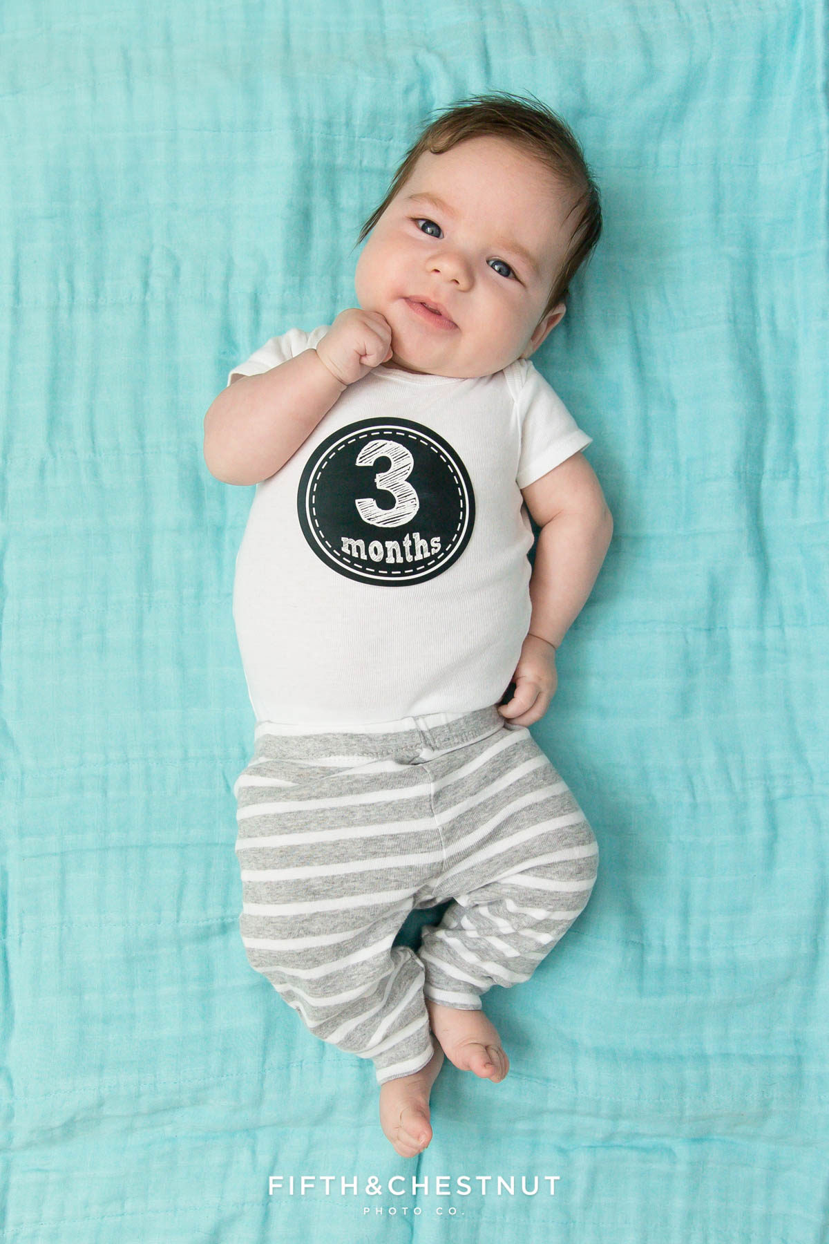 3 Month Old Twins by Reno Baby Photographer