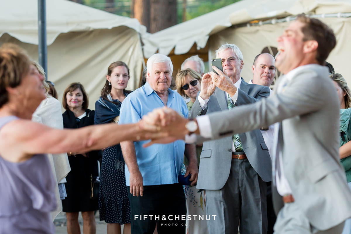 mother son dance at a lake tahoe wedding