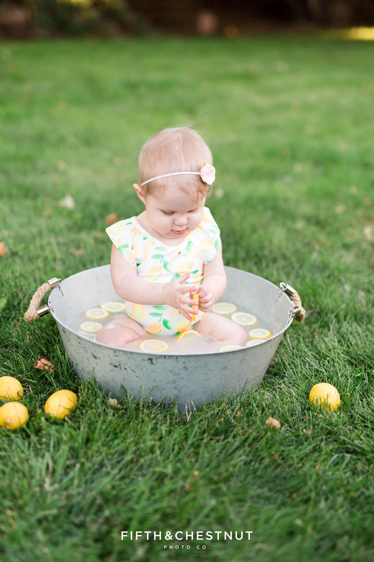 Summer Farmer and Milk Bath Baby Photos by Reno Baby Photographer