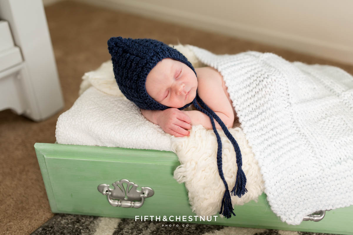Casual In home lifestyle newborn photography by Reno Newborn Photographer on a fall afternoon