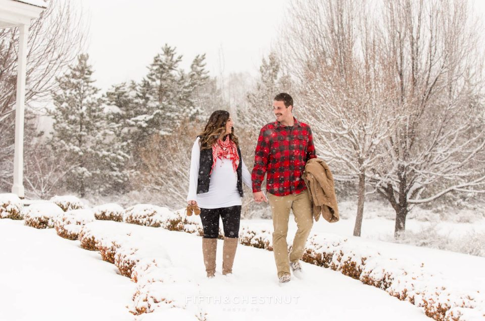 Kate's Winter Snowy Reno Maternity Photos | Reno Maternity Photographer