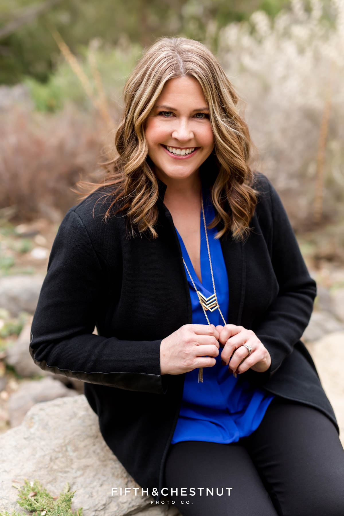 Spring Reno Headshots with Royal Blue theme by Reno Headshot Photographer
