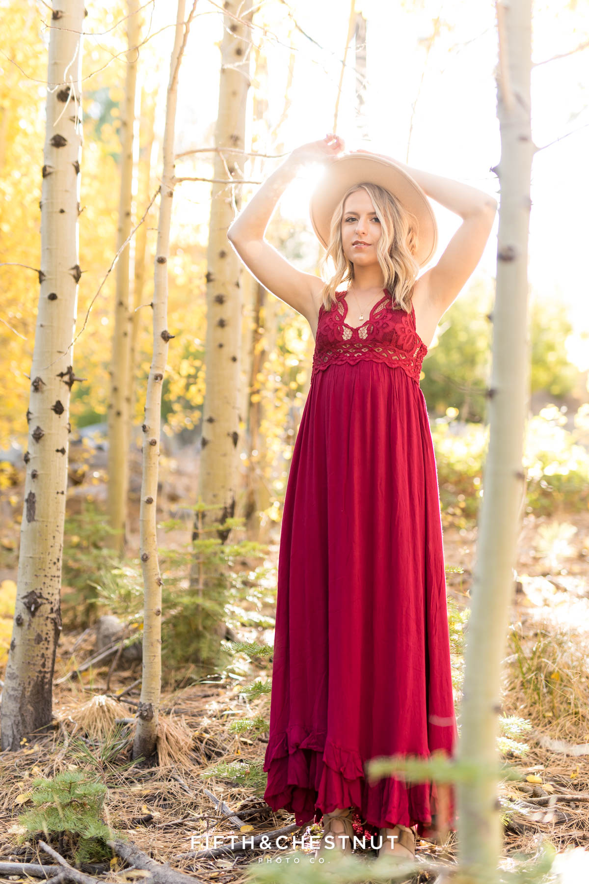 Fall Boho Chic Reno High School Senior Portraits at Galena Creek Park by Reno High School Senior Photographer