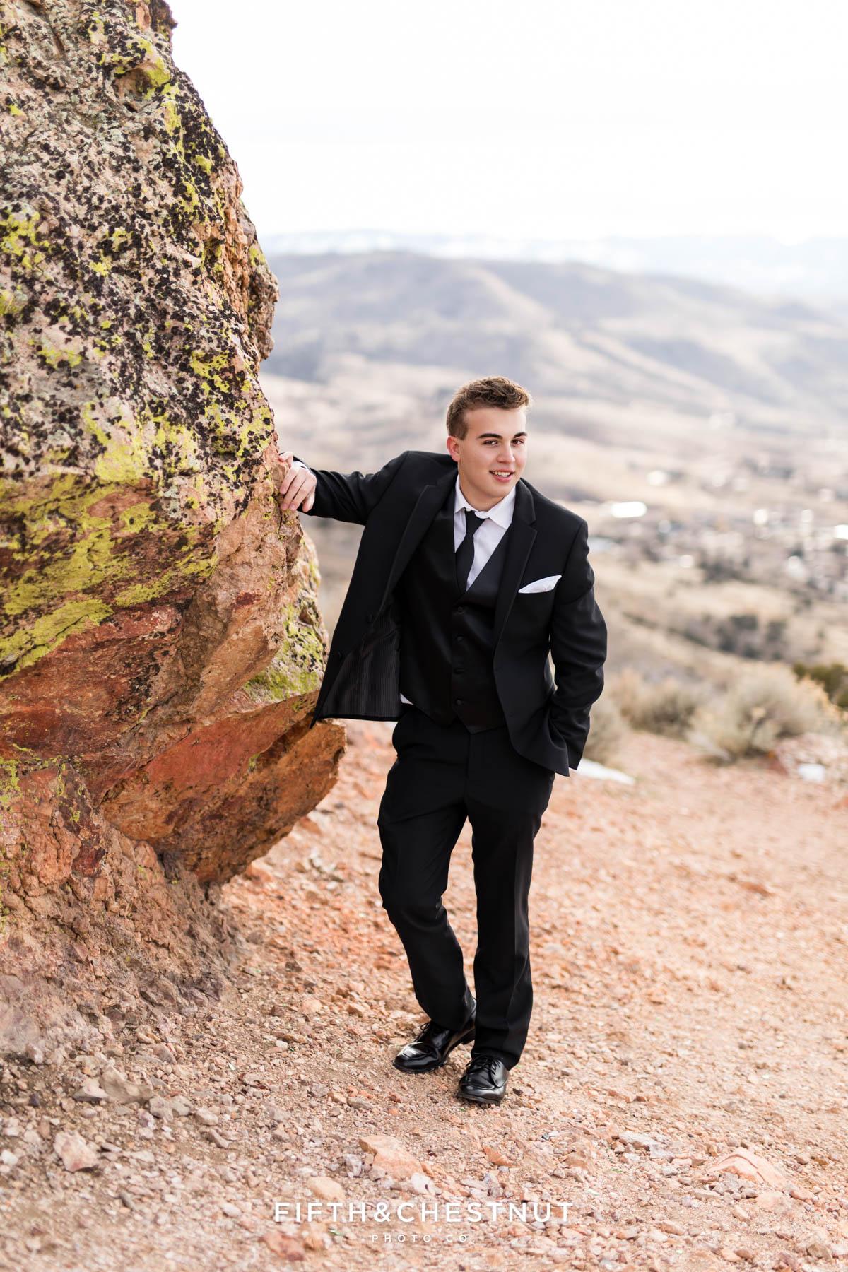 Geiger Grade Overlook Winter Reno High School Senior Portraits by Reno High School Senior Photographer