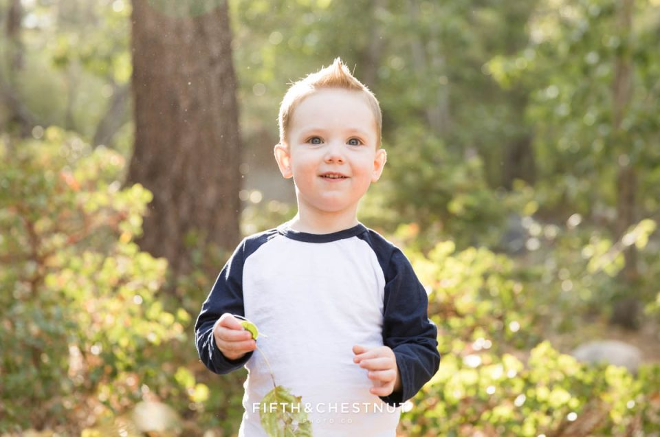 Theo's spunky child portraits at Galena Creek by Reno Child Photographer