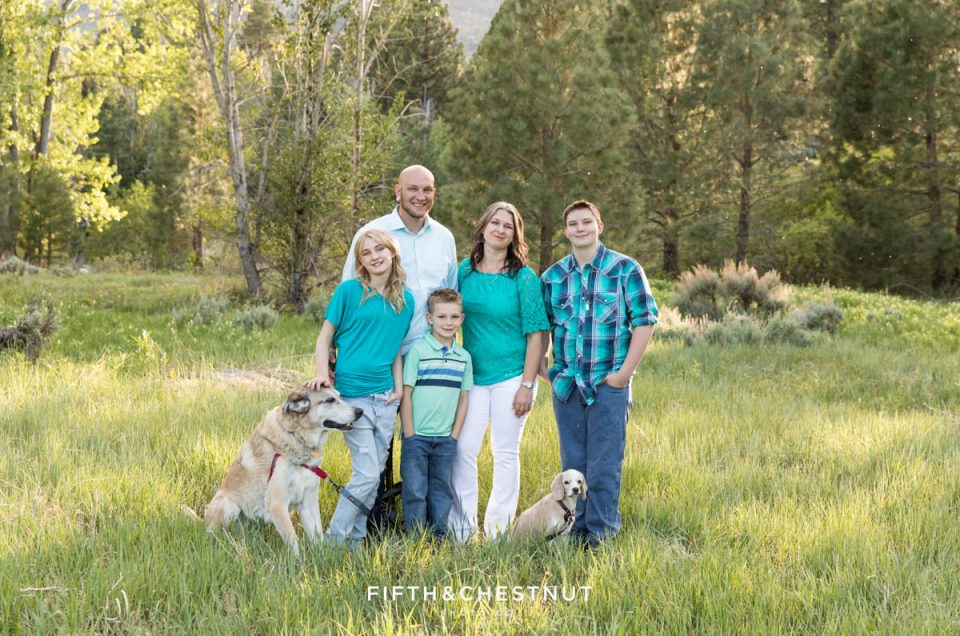 Colorful Reno Family Portraits at Crystal Peak Park | Reno Family Photographer