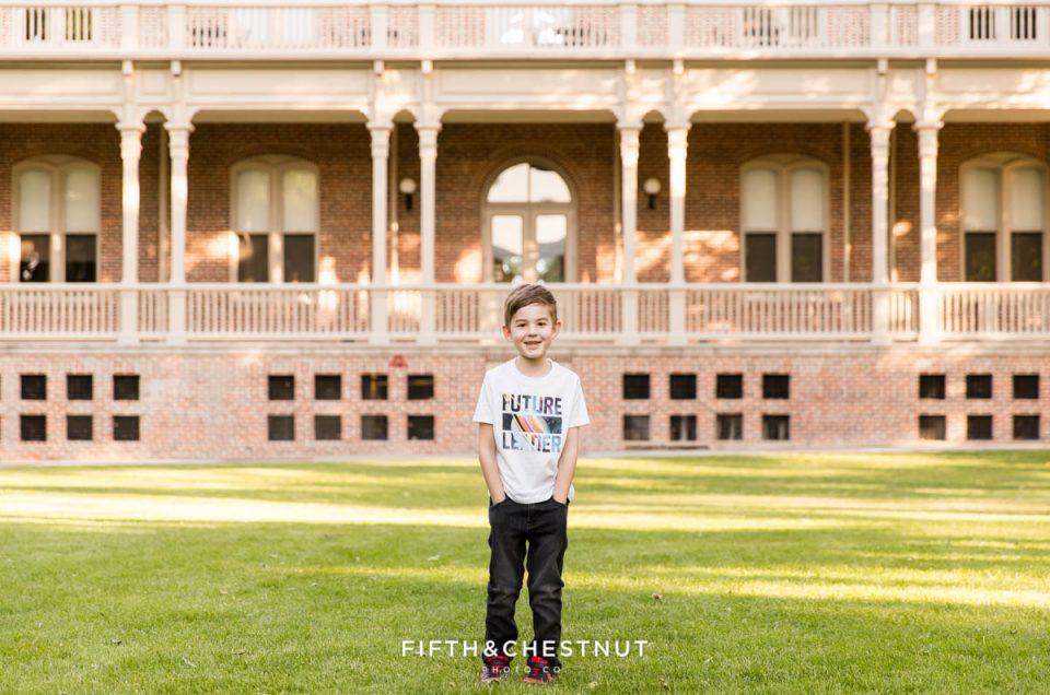Kindergarten Cap and Gown Portraits | Reno Child Photographer